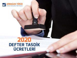 2020 defter tasdik ücretleri